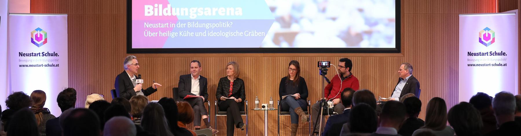 """Bildungsarena """"Neustart in der Bildungspolitik? Über heilige Kühe und ideologische Gräben"""""""