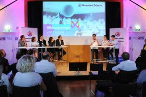"Diskussion: "" Neustart Schule Bildungsarena ""; Sibylle Hamann, Therese Niss, Douglas Hoyos-Trauttmannsdorf, Sonja Hammerschmid, Michael Stumpf"