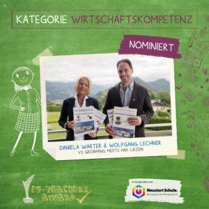 Daniela Warter & Wolfgang Lechner (VS Gröbming und HAK Liezen, Steiermark)